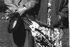 Grażyna Bacewicz z Grzegorzem Fitelbergiem w Pradze po wykonaniu III Koncertu skrzypcowego, 1950 (PWM)