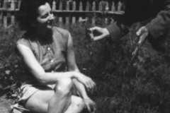 Grażyna Bacewicz z Edmundem Rudnickim w Koszelówce, 1954 (PWM)