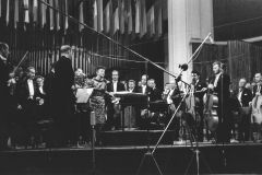 Grażyna Bacewicz after the performance of Musica sinfonica at the 1965 Warsaw Autumn, phot. Andrzej Zborski (Polish Composers' Union)