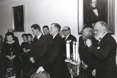 Grażyna Bacewicz na uroczystości wręczenia dorocznej nagrody ZKP Tadeuszowi Bairdowi, 1966, fot. Andrzej Zborski (ZKP)